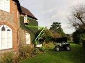 Hedge Cutting with Cherry Picker